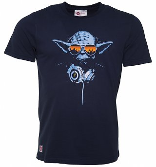 Men's Navy DJ Yoda T-Shirt from Chunk