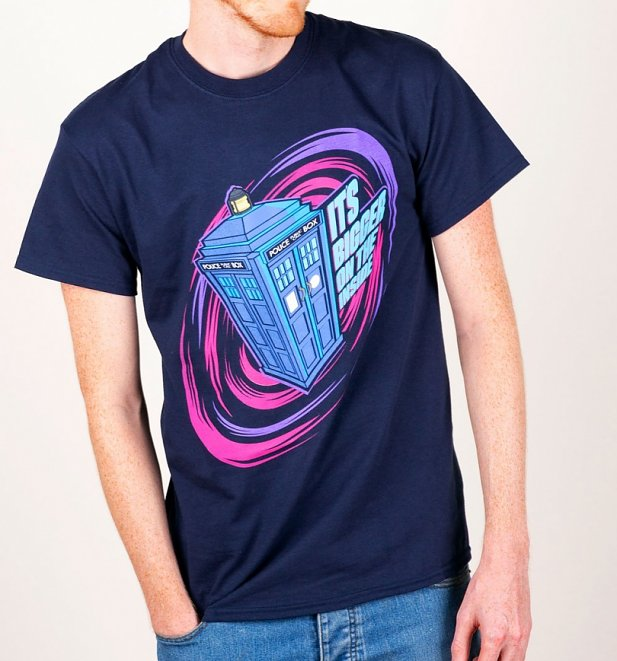 Men's Navy Doctor Who Tardis Bigger On The Inside T-Shirt