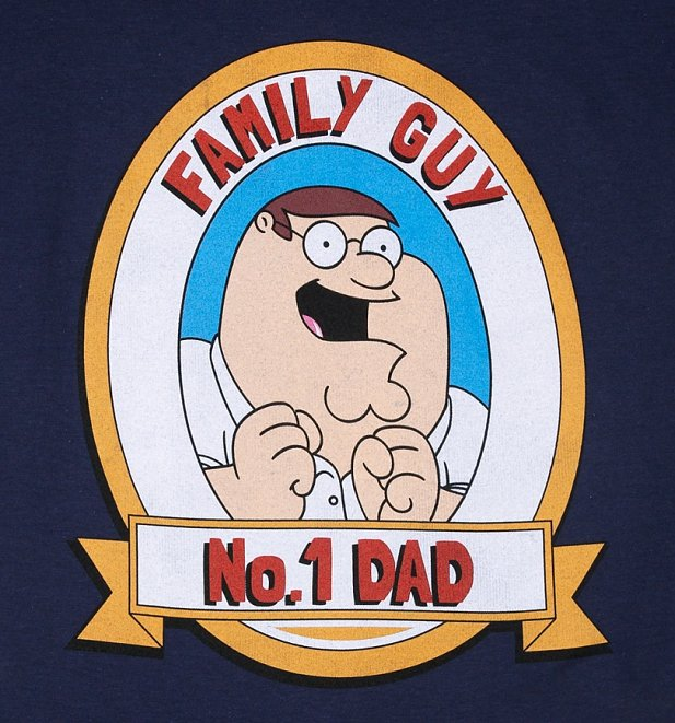 Men's Navy Family Guy No.1 Dad T-Shirt