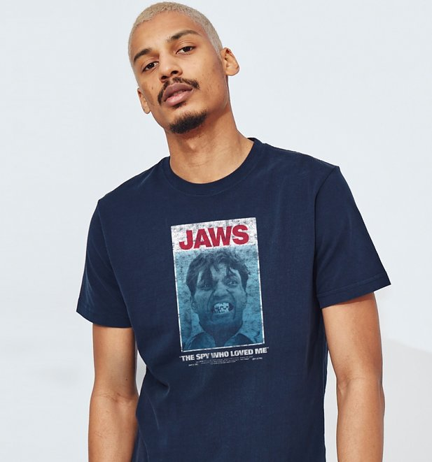 Men's Navy Jaws James Bond T-Shirt from Chunk