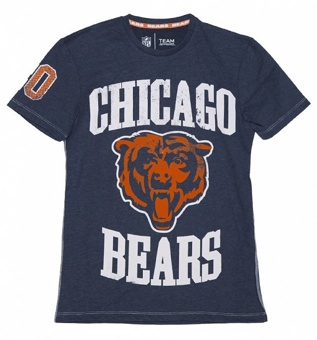Men's Navy Marl Chicago Bears NFL T-Shirt