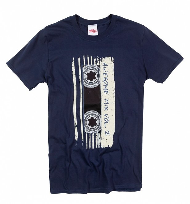Men's Navy Marvel Comics Guardians Of The Galaxy Mix Tape Vol 2 T-Shirt