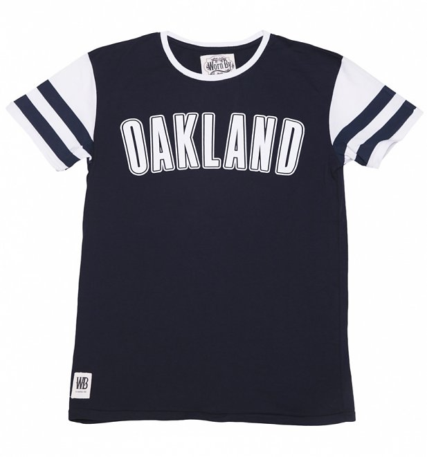 Men's Navy Oakland Mick Jagger T-Shirt by Worn By