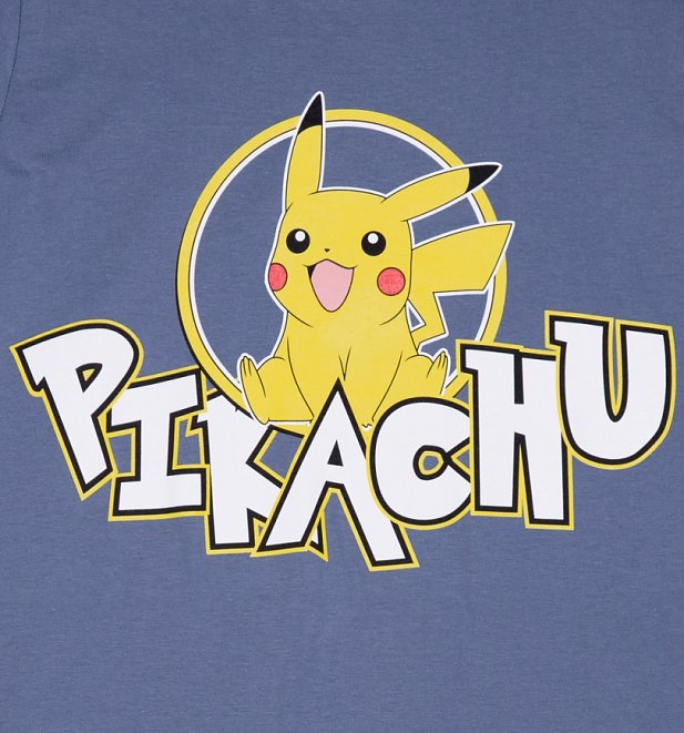 Men's Navy Pokemon Pikachu T-Shirt