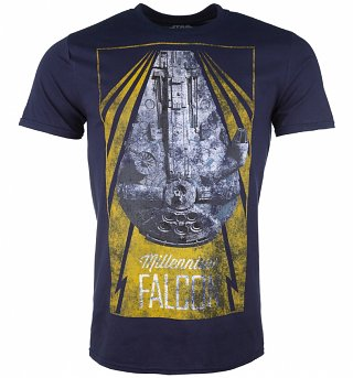 Men's Navy Star Wars Millennium Falcon T-Shirt