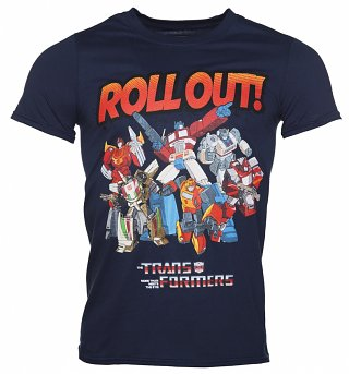 Men's Navy Transformers Roll Out T-Shirt