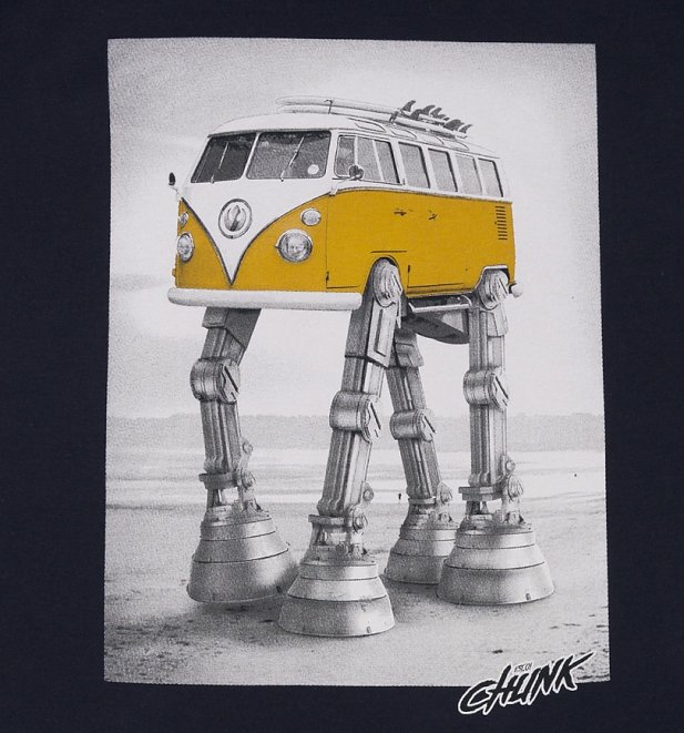 Men's Navy Walking Camper AT-AT Star Wars T-Shirt from Chunk