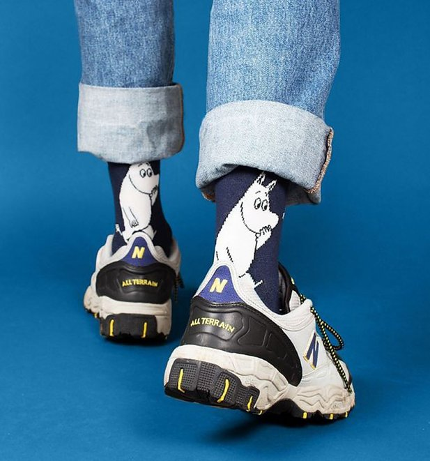 Men's Navy Wondering Moomintroll Moomin Socks