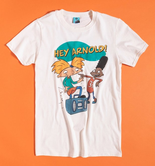 Men's Nickelodeon Hey Arnold Ecru T-Shirt