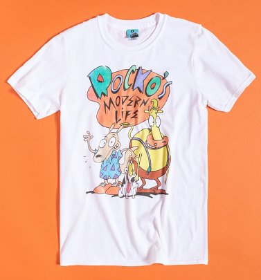 Men's Nickelodeon Rocko's Modern Life White T-Shirt