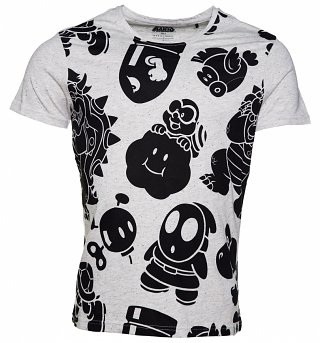 Men's Nintendo Characters All Over Print T-Shirt