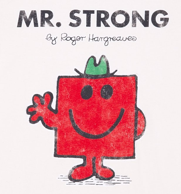 Men's Off White Mr Strong Mr Men T-Shirt
