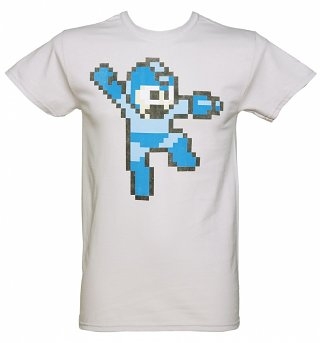 Men's Pale Grey Mega Man T-Shirt