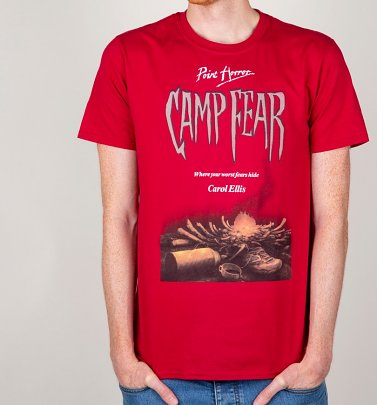 Men's Point Horror Camp Fear Cardinal Red T-Shirt