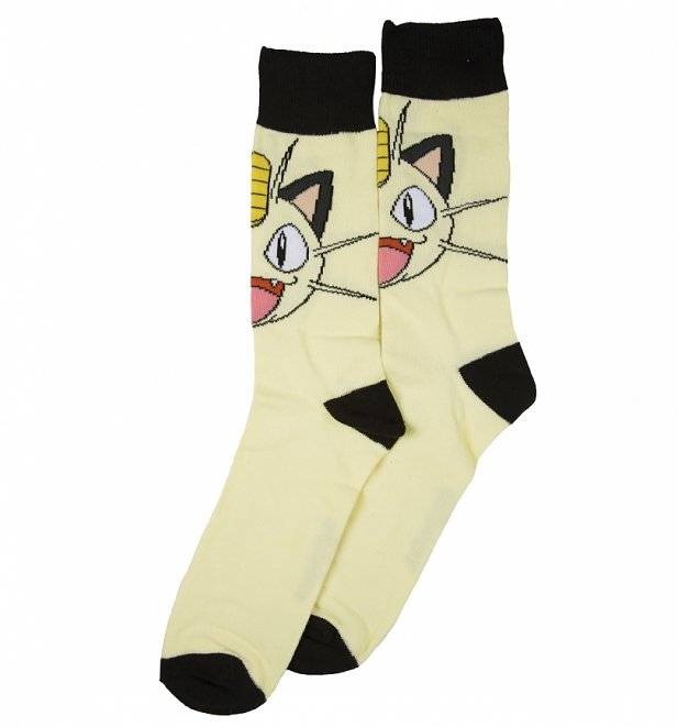 Men's Pokemon Meowth Crew Socks