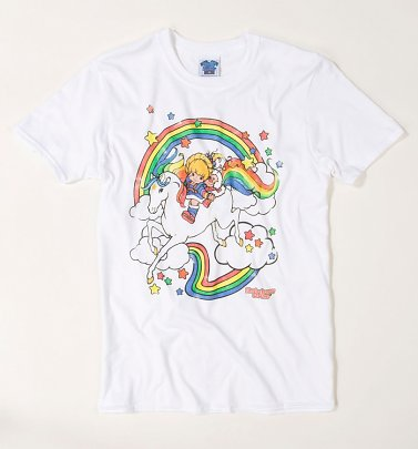 Men's Rainbow Brite Clouds White T-Shirt