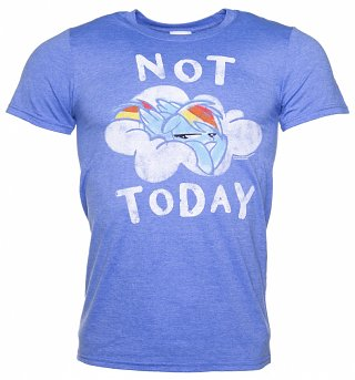 Men's Rainbow Dash Not Today Heather Royal T-Shirt