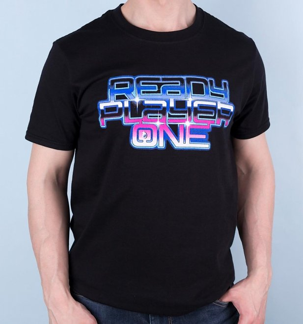 Men's Ready Player One Neon Logo T-Shirt