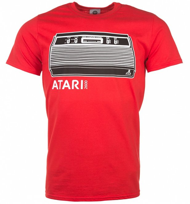 Men's Red Atari Console T-Shirt