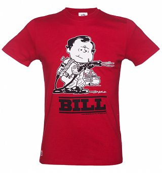 Men's Red Bill Mash Up T-Shirt from Chunk