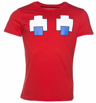 Men's Red Blinky Pac-Man Ghost T-Shirt