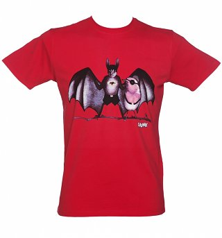 Men's Red Crime Fighters T-Shirt from Chunk