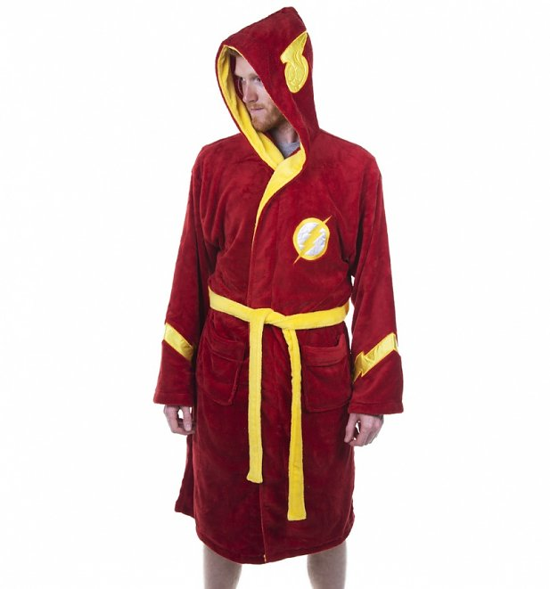 Red DC Comics The Flash Dressing Gown