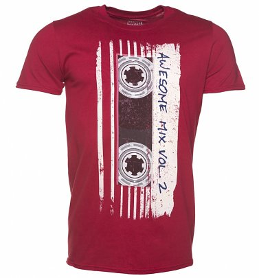 6a72ba0c121 Men s Burgundy Marvel Comics Guardians Of The Galaxy Mix Tape Vol 2 T-Shirt