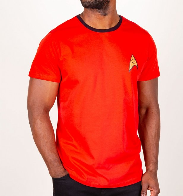 Red Scotty Costume Star Trek Ringer T-Shirt