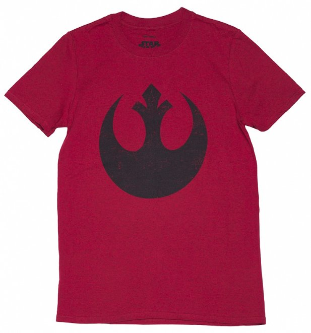 Men's Red Star Wars Rebel Alliance Logo T-Shirt