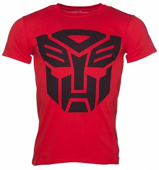 Men's Red Transformers Autobot Shield T-Shirt