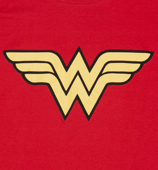 Men's Red Wonder Woman Logo T-Shirt
