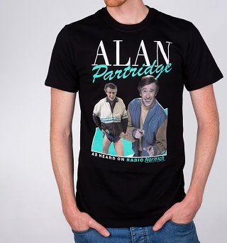 Men's Retro Alan Partridge Black T-Shirt