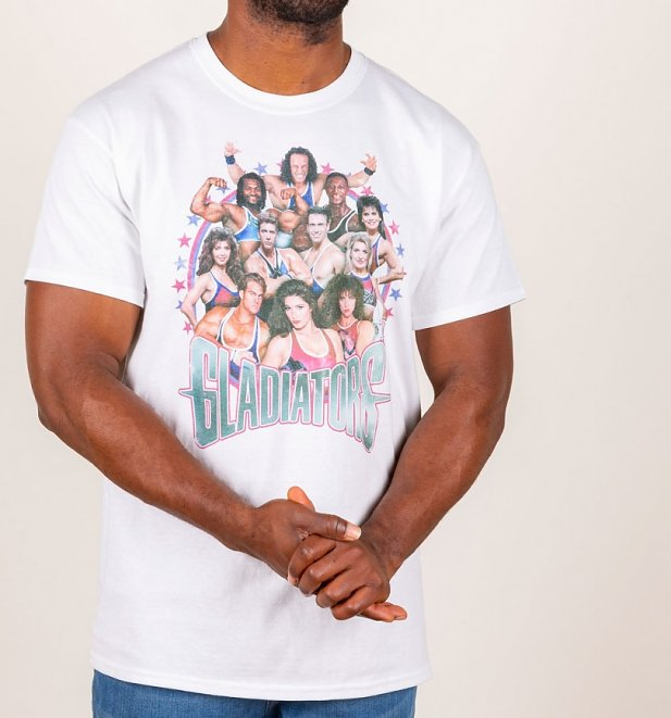 Men's Retro Gladiators White T-Shirt