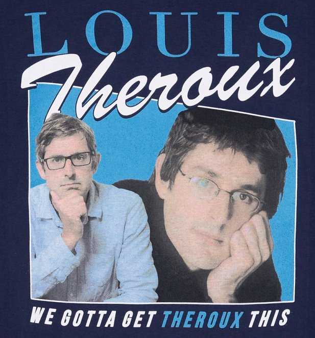 Men's Retro Louis Theroux Navy T-Shirt