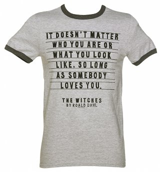 Men's Roald Dahl The Witches Quote Ringer T-Shirt