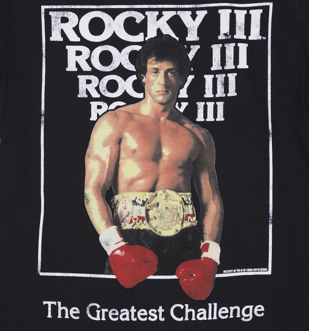 mens rocky iii movie poster tshirt