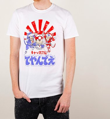 Men's Samurai Pizza Cats White T-Shirt