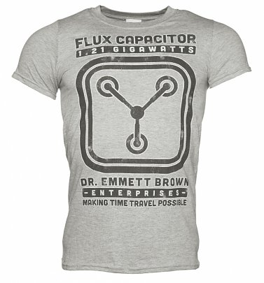 Men's Schematic Back To The Future Flux Capacitor T-Shirt