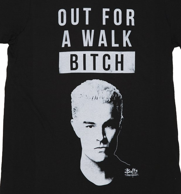 Men's Spike Out For A Walk Buffy T-Shirt