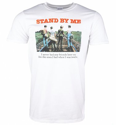 Men's Stand By Me Rail Tracks White T-Shirt