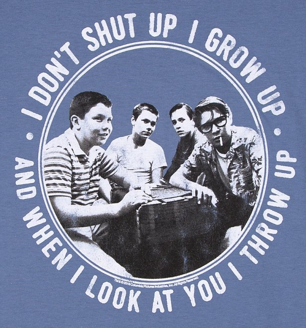 Men's Stand By Me Throw Up Indigo Blue T-Shirt