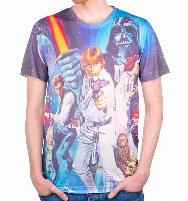 Men's Star Wars A New Hope Sublimation Print T-Shirt