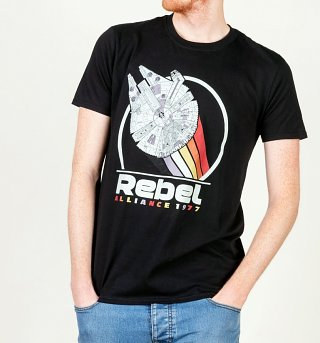 Men's Star Wars Rebel Alliance 1977 Black T-Shirt