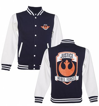 Men's Star Wars VII The Force Awakens Rebel Forces Varsity Jacket