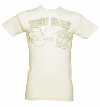 Men's Stone Popeye Best Buds T-Shirt from Goodie Two Sleeves