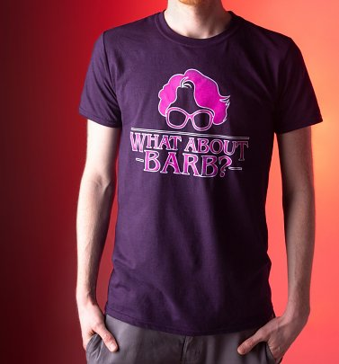 Men's Stranger Things Inspired What About Barb Blackberry T-Shirt