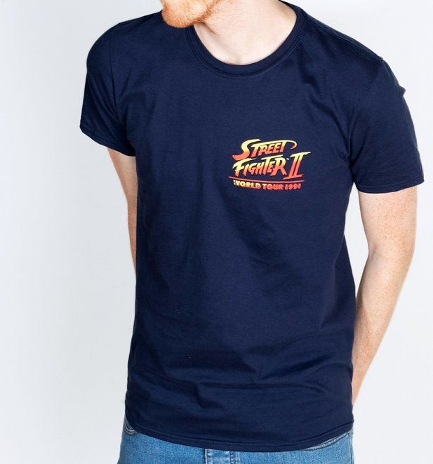 Men's Street Fighter II World Tour Navy T-Shirt