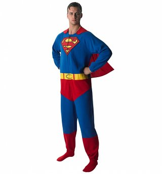 Men's Superman Costume Fancy Dress Onesie