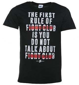 Men's The First Rule Of Fight Club Black T-Shirt